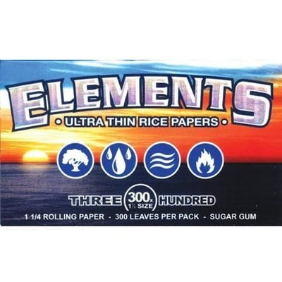 ELEMENTS 300 Ultra-Thin Rice Rolling Paper 1.25 1 14 Size-Best Rolling Papers