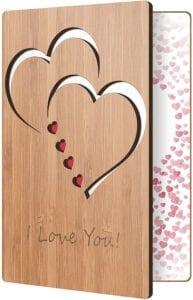 Unique Gifts for Valentines Day for Her - Bamboo Card