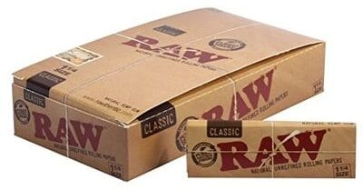 Raw Unrefined Classic 1.25 1 14 Size Cigarette Rolling Papers-Best Rolling Papers