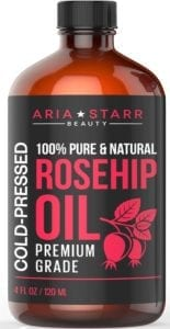 Best Essential Oils for Skin- Aria Starr Rosehip Seed Oil