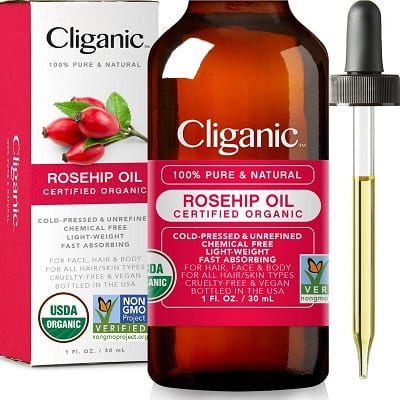 Best Carrier Oils for Essential Oils - Cliganic Rosehip Seed Oil