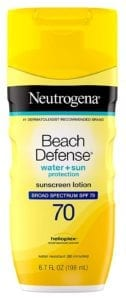 Best Sunscreen Lotions - Neutrogena Beach Defense Water Resistant Sunscreen Body Lotion with Broad Spectrum SPF 70, Oil-Free and Fast-Absorbing, 6.7 oz