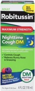 best cough syrups - Robitussin Max Strength Nighttime