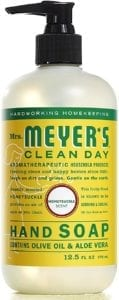 best hand soap - Mrs. Meyer's clean day