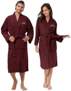 Best Christmas Gifts - AW Bridal Couple's Robes