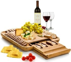 Best Christmas Gifts - Bambusi Cheese Board & Knife Set
