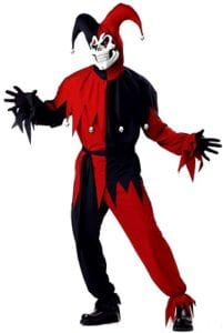 Best Mens Costumes - Red Evil Jester - California Costumes
