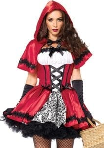 best female halloween costumes Leg Avenue- Gothic Red Riding Hood