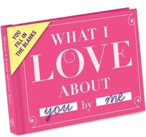 Chistmas Gifts For Boyfreinds - Knock Knock What I Love About You Fill in the Love Book