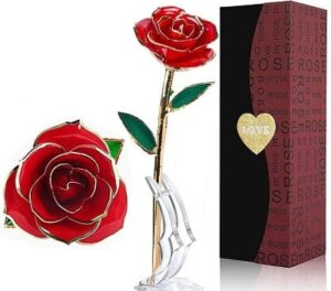 Best Valentine's Day Gifts for Girlfriend - LOVLO Gold Dipped Rose