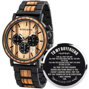 BOBO BIRD Mens Personalized Engraved Wooden Watches