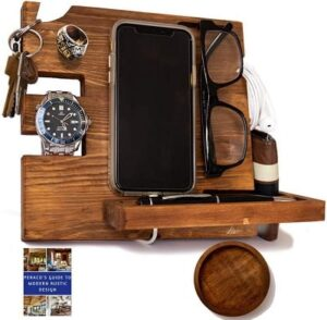 Best Valentine's Gifts for Him - Peraco's Wooden Docking Station