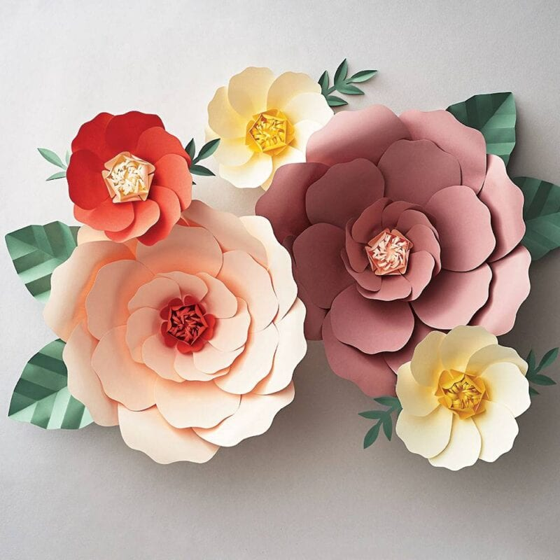 best homemade valentines gifts - paper flowers